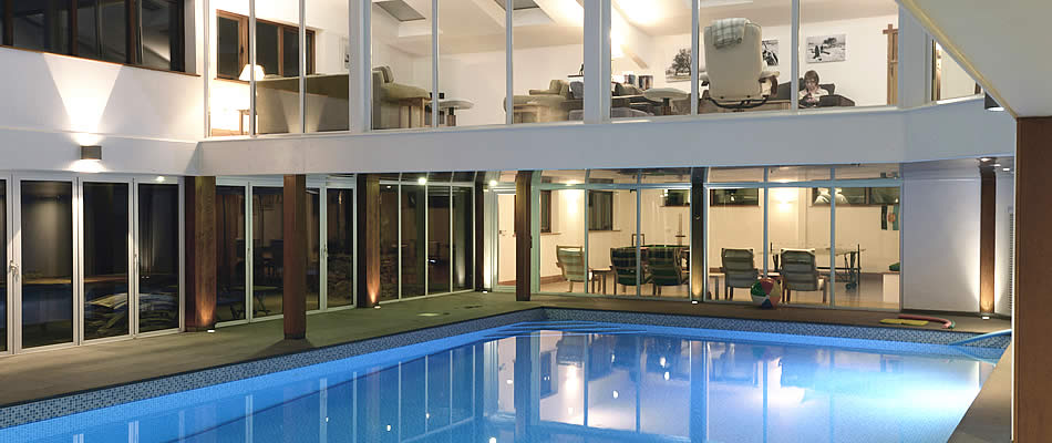Lounge and Swimming Pool at The Barn, Lower Harton