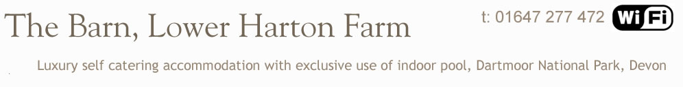 Lower Harton Farm, luxury self catering holiday accommodation with exclusive use of swimming pool and games room